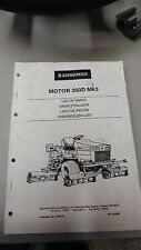 NEW RANSOMES 350 D MK3 Parts List Manual