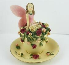 FAIRY/ROSE CUP/HAND PAINTED/SUPERB DETAIL/999/ BY/ DEZINE/NEW/BOXED