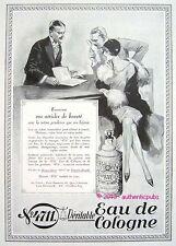 PUBLICITE PARFUM VERITABLE EAU DE COLOGNE 4711 BIJOUX ARTICLE BEAUTE DE 1930 AD