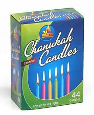 44 Coloured Chanuka Chanukah 'Hanukkah Candles lights - Box Menorah Judaica
