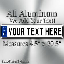 EURO STYLE  TAG BMW  european license plate, ANY TEXT, CUSTOMIZABLE, GERMAN