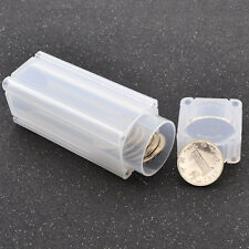 Coin Safe Coin Holder Clear Coins Propene Polymer Portable Storage Tubes Square