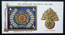 The Royal Fusiliers  Regimental Insignia  Original 1930 Vintage Card