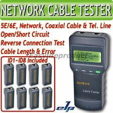 SC8108 Network Cable Tester Meter Cat5 LAN Phone RJ45 Mapper 8 Far End Test Jack