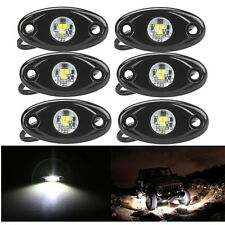6x White 9W CREE LED Off Road Rock Light Rescue Vehicle Heavy Duty Driving SUV