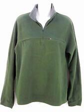 LL Bean Men's 1/4 Zip Neck Pullover Fleece Top S Green