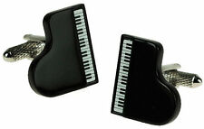 Black Piano  Cuff Links Music Cufflinks 20424 New in gift box