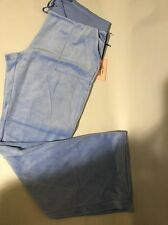 New Juicy Couture Blue Hydrangea Authentic Velour Gym Pants Boot Cut Large ❤️��