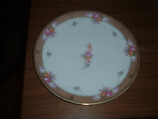 Vintage R S Tillowitz Silesia plate 8 1/2 inch floral gold trim