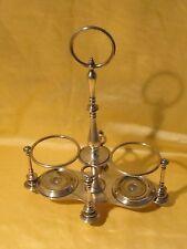 Ancien support pour huilier vinaigrier en métal argenté poinçonné Christofle