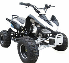 Bandit 125cc Quad Bike 4~Stroke Electric Start Rev&Go Off Road Petrol White