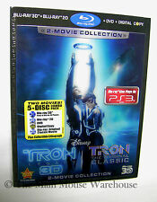 Disney TRON 2 Movie 3D Blu-ray DVD Digital Copy Combo Pack Lenticular Slipcover
