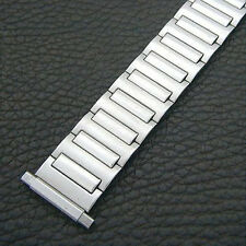NOS Adjustable 16mm to 22mm Mid-Century Flexon Stainless Watch Band!