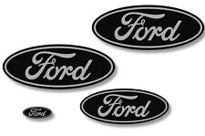 Front,Rear,Steering Wheel Decals Sticker Oval Overlay For Ford Expedition GREY