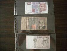 tre banconote da 1000 LIRE