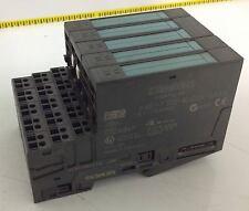 SIEMENS S7 W/BASE LOT OF 5 6ES7 132-4BD00-0AA0