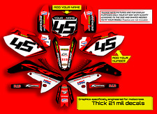 2005 2006 2007 HONDA CRF 450R DIRT BIKE GRAPHICS KIT CRF450R DECO MX DECALS