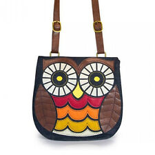 Loungefly Owl Purse Crossbody Embroidered Owl Bag Circle Eyes Brown Owl Purse