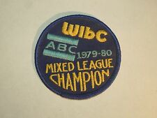 Vintage 1980 WIBC ABC 1979-80 Mixed League Champion Bowling Iron On Patch