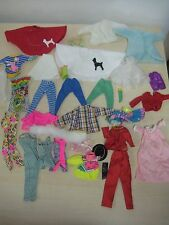 VINTAGE Lot of 31 BARBIE  CLOTHES LOT Poodle Skirts Dresses Disney and More !!