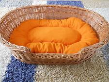 100 cm Hundekorb, Hundebett, Hundeschlafplatz, Hundeliege aus Weide incl. Kissen
