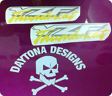 YZF THUNDERCAT SILVER & YELLOW FAIRING PANEL CUSTOM DECALS STICKERS GRAPHICS