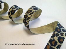 Leopard Animal Print  Grosgrain Ribbon - Retro Style Funky - 20mm - Per 3 metres