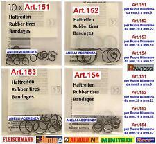 SET 10 ANELLI DI TRAZIONE-ADERENZA 152 per RUOTE mm.14 ESTERNO SCALA-N ed HO
