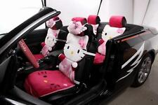 ** 12 Piece Rose Red Hello Kitty Fluffy Winter Car Seat Covers **