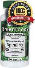 100% Orgánico Certificado Spirulina X 180 Tabletas Detox, Diet, pérdida de peso, limpieza