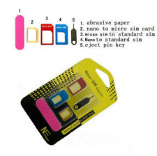 to Adapter Adaptor 5 IN 1 Converter Set Standard Micro SIM Card Nano for iPhone