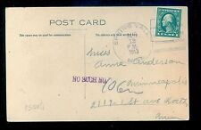1913 Spring Vale MN Cancel on PPC Isanti  County DPO (1870/1937) MN1214