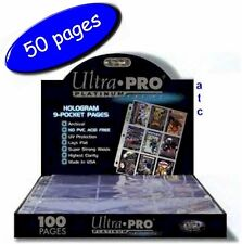 Ultra-Pro 9 Pocket Pages Platinum Series Multi-Hole - Box/Pack Of 50 Pages
