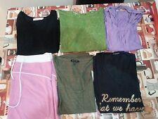 Lotto 142 stock 6 maglie magliette camice donna TG.XL