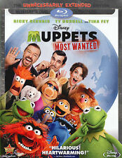 DISNEY Muppets Most Wanted Blu-ray/DVD, 2014, 2-Disc Set