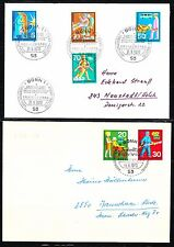 Germany 1970 FDC covers Mi 629-634 Sc 1022-27 Honoring various voluntary service