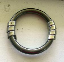 Loewe Spain Designer Gunmetal / Silver color Bungle Bracelet