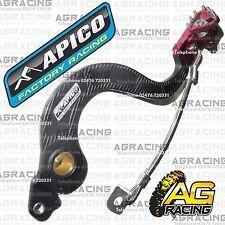 Apico Black Red Rear Brake Pedal Lever For Honda CRF 150RB 2008 Motocross Enduro