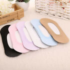 6 PAIRS Cotton Antiskid Invisible Liner No Show Peds Low Cut Socks for Women B42