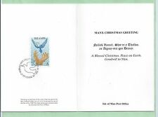 Isle of Man IOM Xmas 1986 Official Post Office Christmas Card 14p Stamp Noel