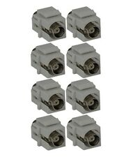 8x BNC Coax Connector Coupler Snap-In Insert Female/Female for Keystone Wall Pla