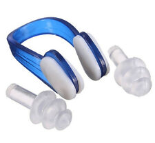 New Soft Silicone Waterproof Swim Earplug Swimming Diving Nose Clip Ear Plug Set