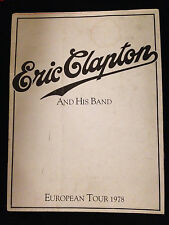 ERIC CLAPTON-BACKLESS EUROPEAN TOUR-CONCERT POSTER PROGRAM-RARE-1978