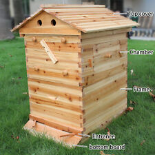 Beehive Wooden Brood Beekeeping House For Auto Flow Honey Beehive Frames
