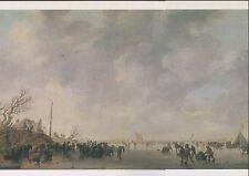 Alte Kunstpostkarte - J. van Goyen - Ijsgezicht