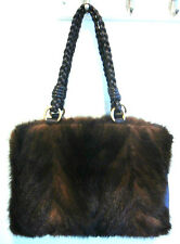 Paolo Masi Italy Authentic Brown Mink Shoulder Bag Barely Used