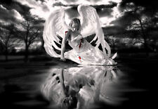 Framed Print - Bleeding Fallen Angel (Gothic Picture Ritual Magic Witchcraft)