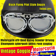 Motorcycle SIL Harley Open face Helmet Flying Style Goggle Cruiser Moped Scooter