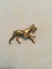 Marcel Boucher Gold Tone Signed Boxer Pin