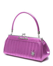 Lux de Ville Stardust Kiss Lock Handbag - Discontinued - Purple